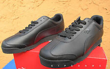 New Men's Puma Roma Casual Shoes - Black Black -Size 13