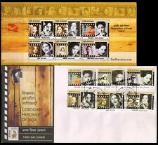 India 2011 Film Cinema Actor Heroines Set Of 6 First Day Cover