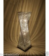 Modern aluminium cayan tower LED table lamp