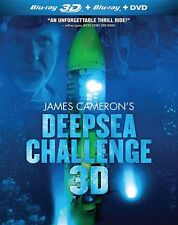 JAMES CAMERON'S DEEPSEA CHALLENGE 3D New Sealed Blu-ray 3D + Blu-ray + DVD
