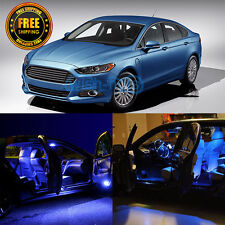 10x Durable 12V Blue LED Lights Interior Package For 2013-2015 Ford Fusion