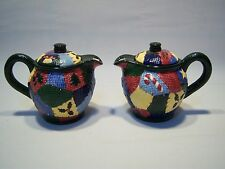 Vintage Set Of Two Mww Market Christmas Themed Ceramic Teapots