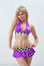 Sexy Miss INDY Super Car Racer Driver Grand Prix Grid Girl Costume 10 12 14