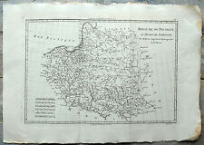 Carte ancienne BONNE antic map 1787 POLOGNE LITHUANIE Poland Polska Riga Lida 72