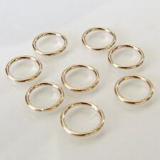 Ten - 14K Gold Filled 10mm Closed Rings 18 gauge, Made in USA