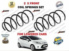 FOR FORD FIESTA 1.6 TDCI + VAN LOWERED CARS 2008- NEW 2 X FRONT COIL SPRINGS SET