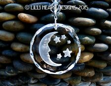 Fine Crystal Moon + Stars Suncatcher w/Swarovski Blue Colors Lilli Heart Designs
