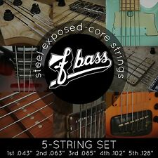 NEW FBass 5-String Sets Exposed Core Bass Strings