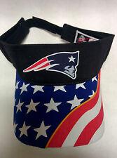 New England Patriots Heat Set applique on USA Flag Visor cap hat! Adjustable!