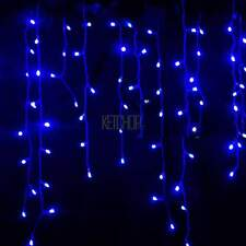 LED Hanging Icicle Snowing Curtain Lights Outdoor Fairy Xmas String Wedding KECP