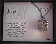 d Love Pray Prayer Box Necklace Let God bring you comfort ganz
