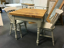 Bespoke Farmhouse Small Square Dining Table and 4 Chairs.  CAN BE ANY COLOUR!