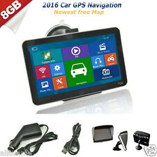 "7"" 8GB Truck Car GPS Navigation Lorry Coach HGV Sat Nav Bluetooth AV-IN New Maps"