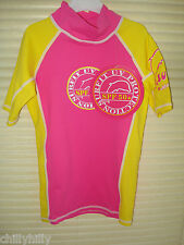 Surfit UV Protection 50+Top Hot Pink/Yellow Green Age2-3 BNWT