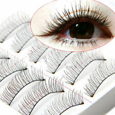 10 Pairs Soft Cross Handmade Eye Lashes Makeup Extension False Eyelashes L7S