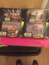 4 Unopened Boxes Of Star Wars Figures 1997-1999 Very Collectible Figures
