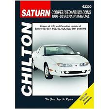 Chilton Repair Manual Saturn Coupes Sedans Wagons S-Series 1991-02 #62300
