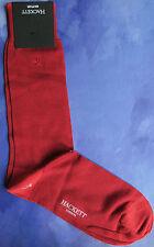 Hackett Mayfair London Mens Silk Socks Sz SM Medium Hackett Logo Red HMU50249