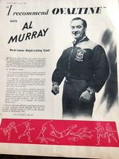 L1-6 Ephemera 1959 Advert Al Murray I Recommend Ovaltine Weight Training Coach