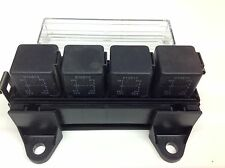 RELAY BOX for 4 Automotive relays  + 4 x 12V 30amp 4pin make/Break Relays