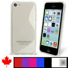 """iPhone 5C S Wave Soft Transparent Clear TPU Silicone Cover Back Case Canada 4.0"""""""