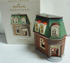 HALLMARK 2006 Corner Bank Nostalgic Houses & Shops Ornament NEW IN BOX