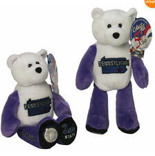 "#2 Pennsyvania State Bear w/Quarter Collectible Plush Bear 9"" Limited Treasure"
