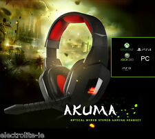 Nemesis AKUMA Wired Optical Fibre Gaming Headset XBOX, PS4, PS3 & PC Irish Stock