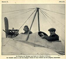 Die Aviatiker Hirth und Dierlam Ankunft in Johannistal nach Rekordflug 1911