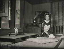 1929 JAPAN Original Photo Gravure ~ INTERIOR DESIGN Architecture Zen Art ARNHOLD