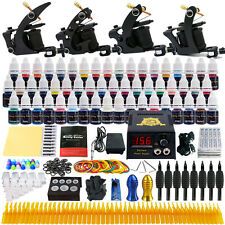 Solong Tattoo Complete Tattoo Kit 4 Machine Gun 54 Ink Needle Power Supply TK457