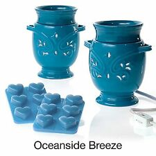 Joy Mangano Forever Fragrant Warmer 2 PACK Oceanside Breeze 14 Piece