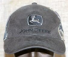 """John Deere Cap Hat Camo Olive Drab """"Nothing Runs Like a Deere"""" Embroided on Back"""