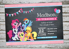 My Little Pony Party invitation printable with free matching Thank You card
