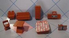 VTG Bluebox Blue Box Polly Pocket Size Dollhouse Doll Living Room FURNITURE lot