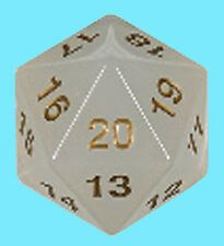 KOPLOW GAMES 55MM TRANSLUCENT PEARL w/ GOLD DIE D20 Countdown Dice MTG Jumbo D&D