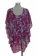 SIMPLY CHLOE DAO Tunic Batwing Sleeve Scoopneck Blouse Top Size XL