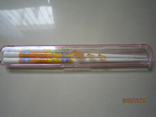 Cute Pink Kids/Children Chopsticks with Container 1 pair