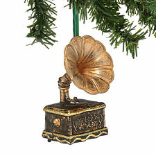 4048518 ANTIQUE GRAMOPHONE PHONOGRAPH Glass Ornament Retro Christmas Dept 56