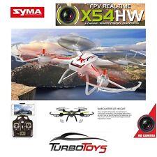 NEW - SYMA X54HW 2.4GHZ WIFI FPV 4CH GYRO QUADCOPTER- WHT- INC HD CAM - FULL SET