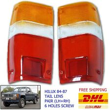 Fit 1984 85 86 87 TOYOTA PICK UP HILUX 4 RUNNER 2WD 4WD TAIL LIGHT LENS 6 Hole