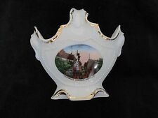 "MAISONNEUVE MONUMENT MONTREAL CANADA SOUVENIR CHINA BASKET GERMANY 5""D X 5 1/4""H"