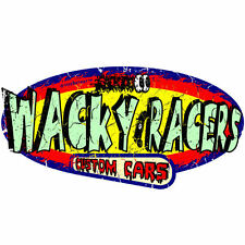 WACKY RACERS FUN ADHESIVE STICKER T4, vw, surf, hot rod, race, VINTAGE NEW!