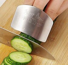 Stainless Steel Finger Hand Protector Guard Chop Safe Slice Knife Kitchen Tool