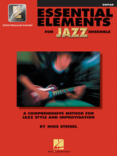 ESSENTIAL ELEMENTS FOR JAZZ ENSEMBLE-GUITAR MUSIC BOOK W/ONLINE ACCESS NEW SALE!