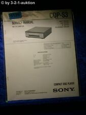 Sony Service Manual CDP S3 CD Player (#5129)