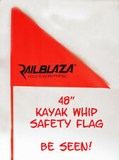 "Railblaza 48"" Orange Whip Flag with Starport Adaptor -  Kayak - Canoe - Boats"