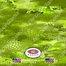 "Hex 3 Green CAMO DECAL 3M WRAP VINYL 52""x15"" TRUCK PRINT REAL CAMOUFLAGE"