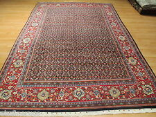 7x10 Persian Tabriz Mahi Intricate Allover-Pattern Hand-Knotted Wool Rug 582145