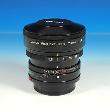 Canon FD Fish-Eye Lens 7.5mm/5.6 Objektiv excellent condition - (101348)